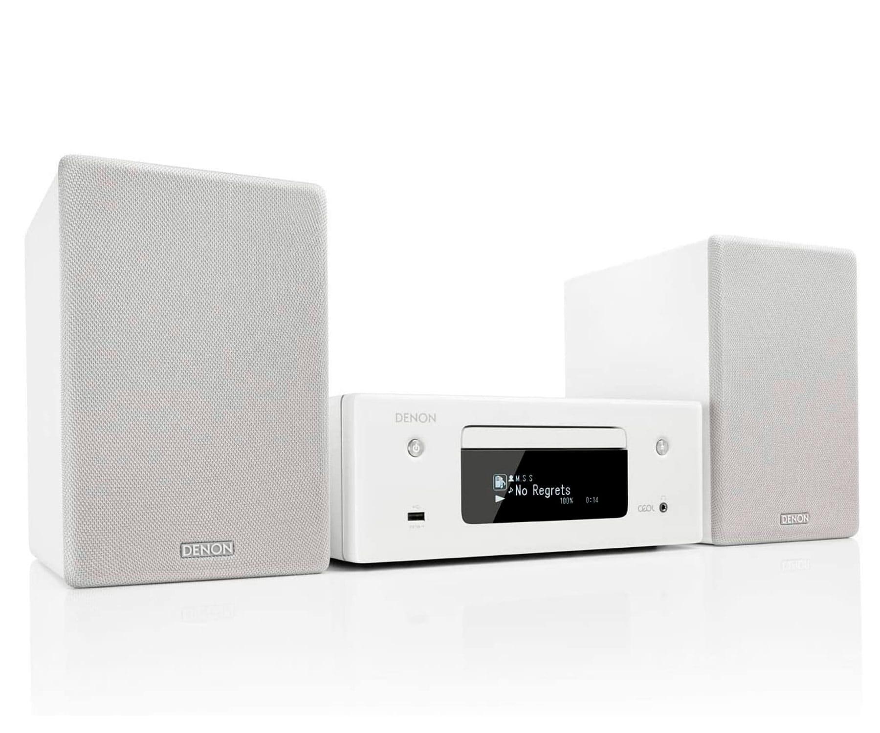 DENON CEOL N10 Blanca Microcadena/Bluetooth/130W RMS/Airplay 2/Tecnología Heos
