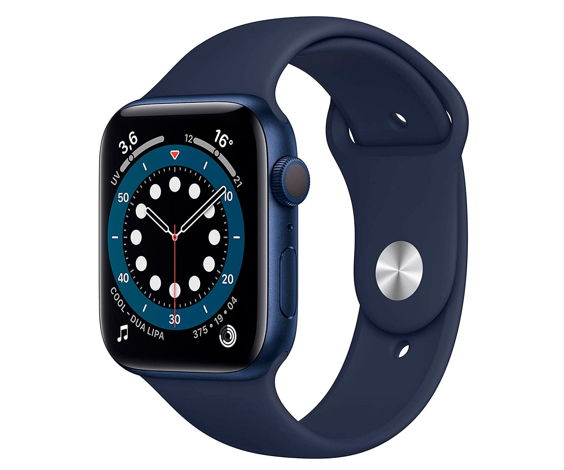 Apple Watch Series 6 /GPS/40mm/Caja de Aluminio en Azul/Correa Deportiva Azul Marino Intenso/App Oxígeno en Sangre/App ECG
