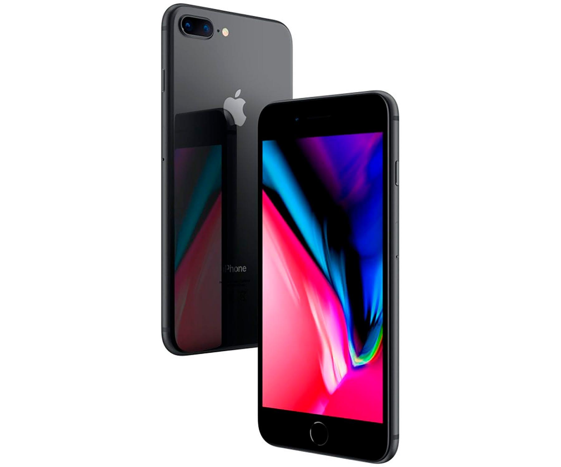 APPLE IPHONE 8 PLUS 64GB Gris Espacial Reacondicionado Recommerce MÓVIL 4G 5.5'' RETINA FHD/6CORE/64GB/3GB RAM/12MP+12MP/7MP