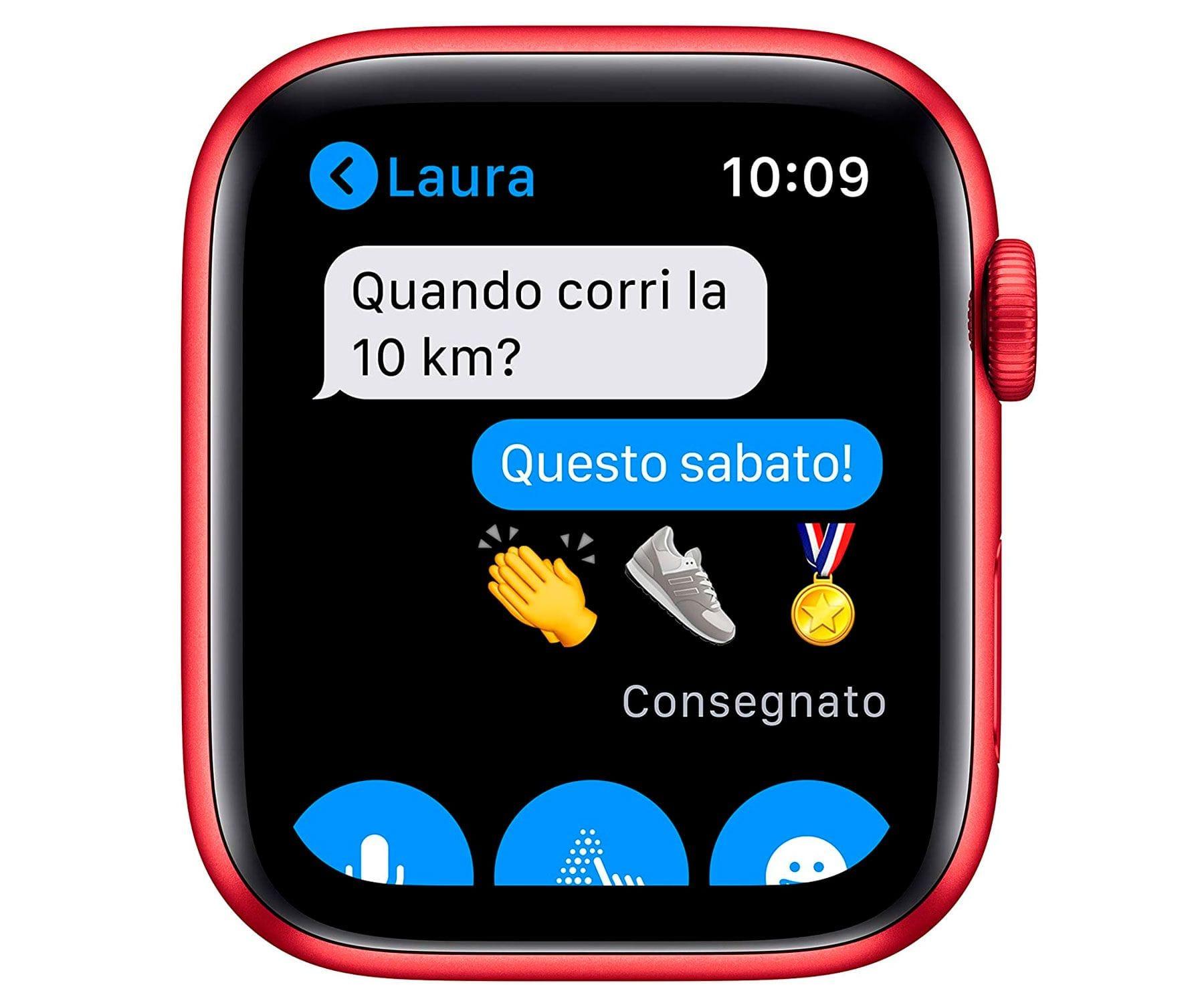 Apple Watch Series 6 /gps/40mm/caja De Aluminio En Roja/correa Deportiva Roja/ap... (4)
