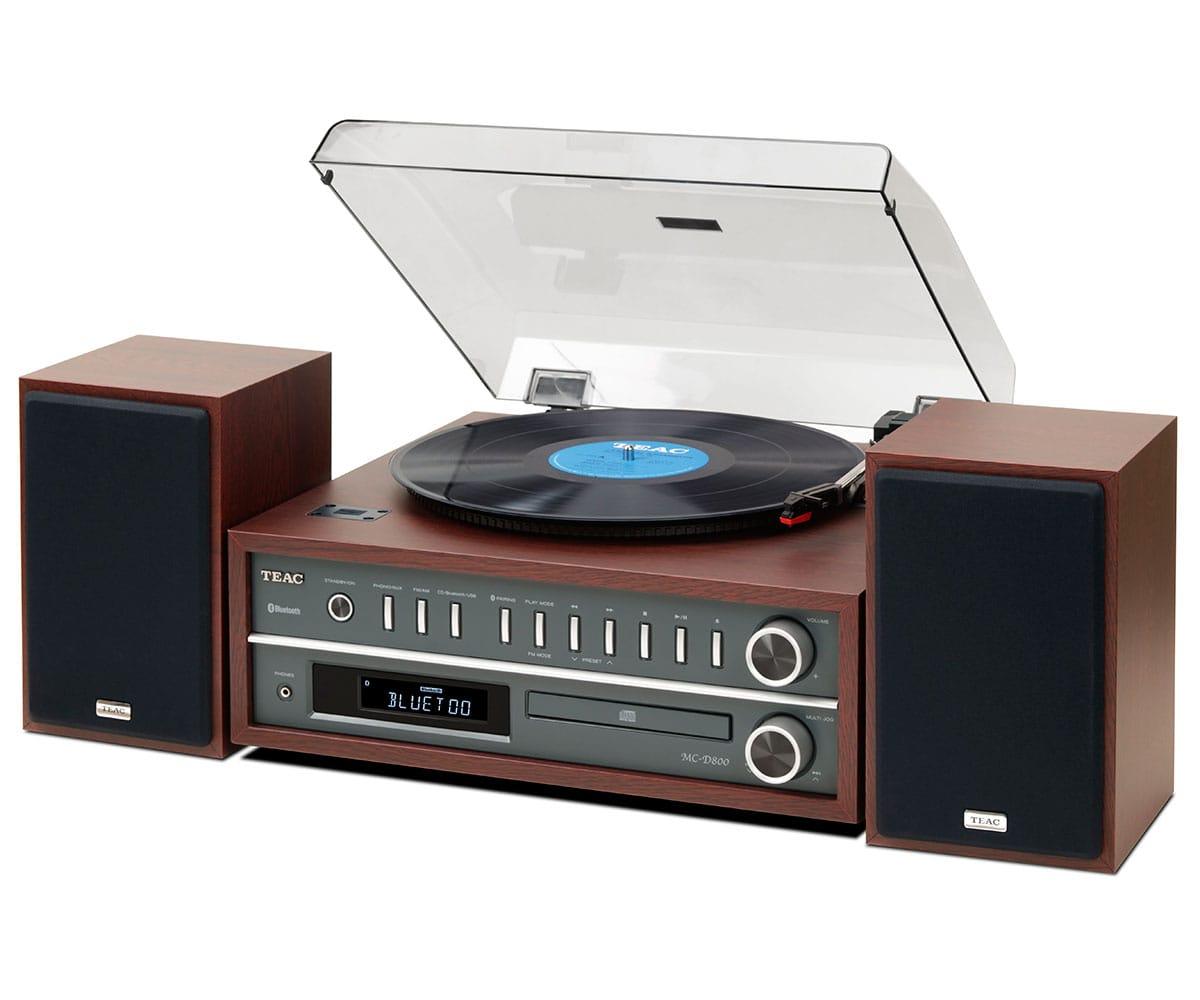 TEAC MC-D800 CEREZO TOCADISCOS CON NFC, BLUETOOTH, CD, USB 20W
