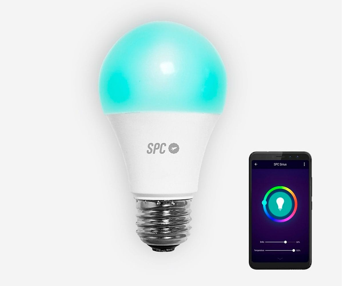 SPC 6103B BOMBILLA LED WI-FI INTELIGENTE CON LUZ REGULABLE RGB CONTROLABLE REMOTAMENTE CON APLICACIÓN MÓVIL
