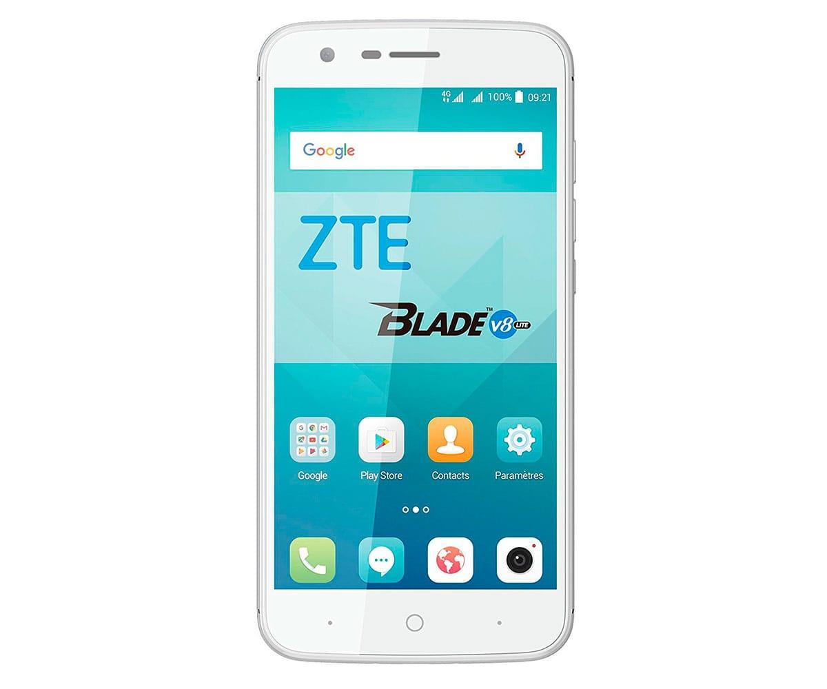 ZTE V8 LITE MÓVIL BLANCO PLATA 4G DUAL SIM 5'' IPS/8CORE/16GB/2GB RAM/8MP/5MP