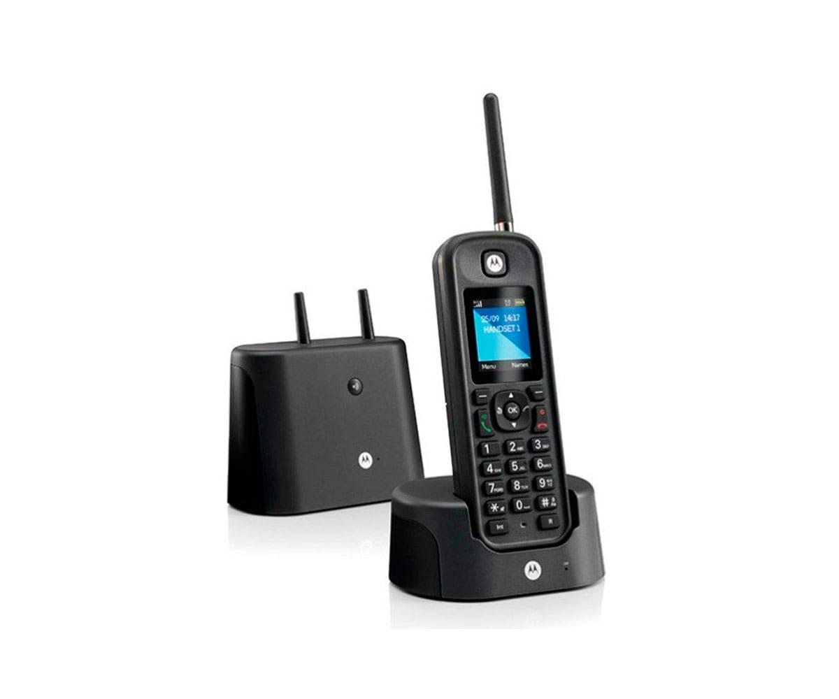 MOTOROLA O201 NEGRO TELÉFONO INALÁMBRICO RESISTENTE DE LARGO ALCANCE