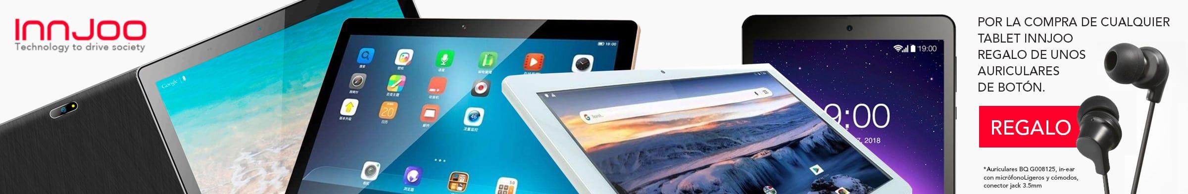 Ahora por la compra de una tablet Innjoo te llevas de regalo unos auriculares
